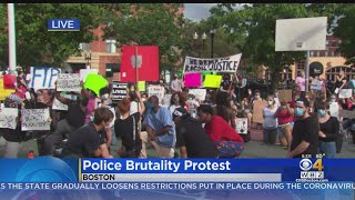 Boston South End Protest Against Police Brutality Draws A Crowd Of More Than 100