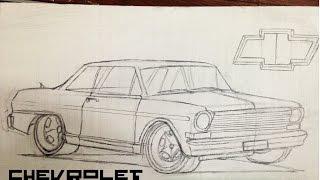 como dibujar un auto chevrolet 400