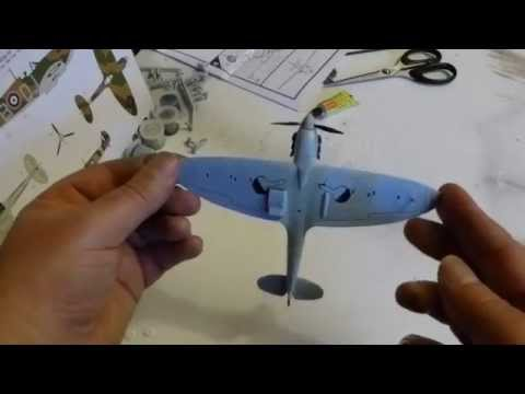 Making an Airfix Spitfire model for the first time