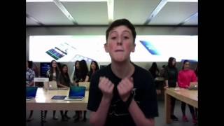 APPLE STORE DANCE TO THE DARK SIDE!! (My Original Song)