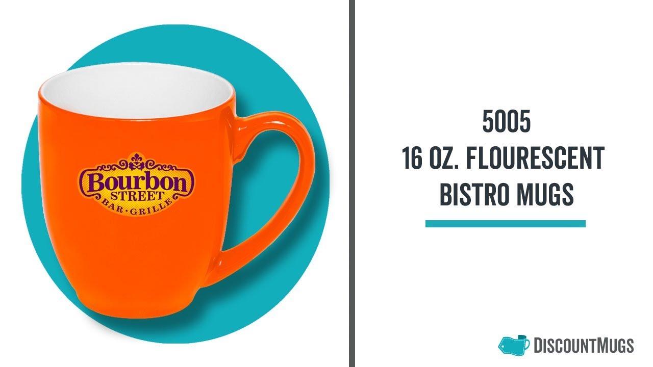Promotional 16 oz  Flourescent Bistro Mugs