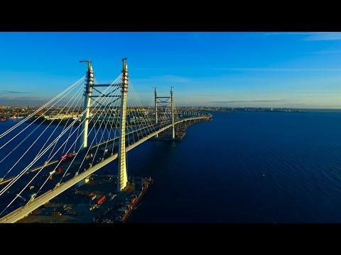 Новый мост через корабельный фарватер Западный скоростной диаметр Санкт-Петербург
