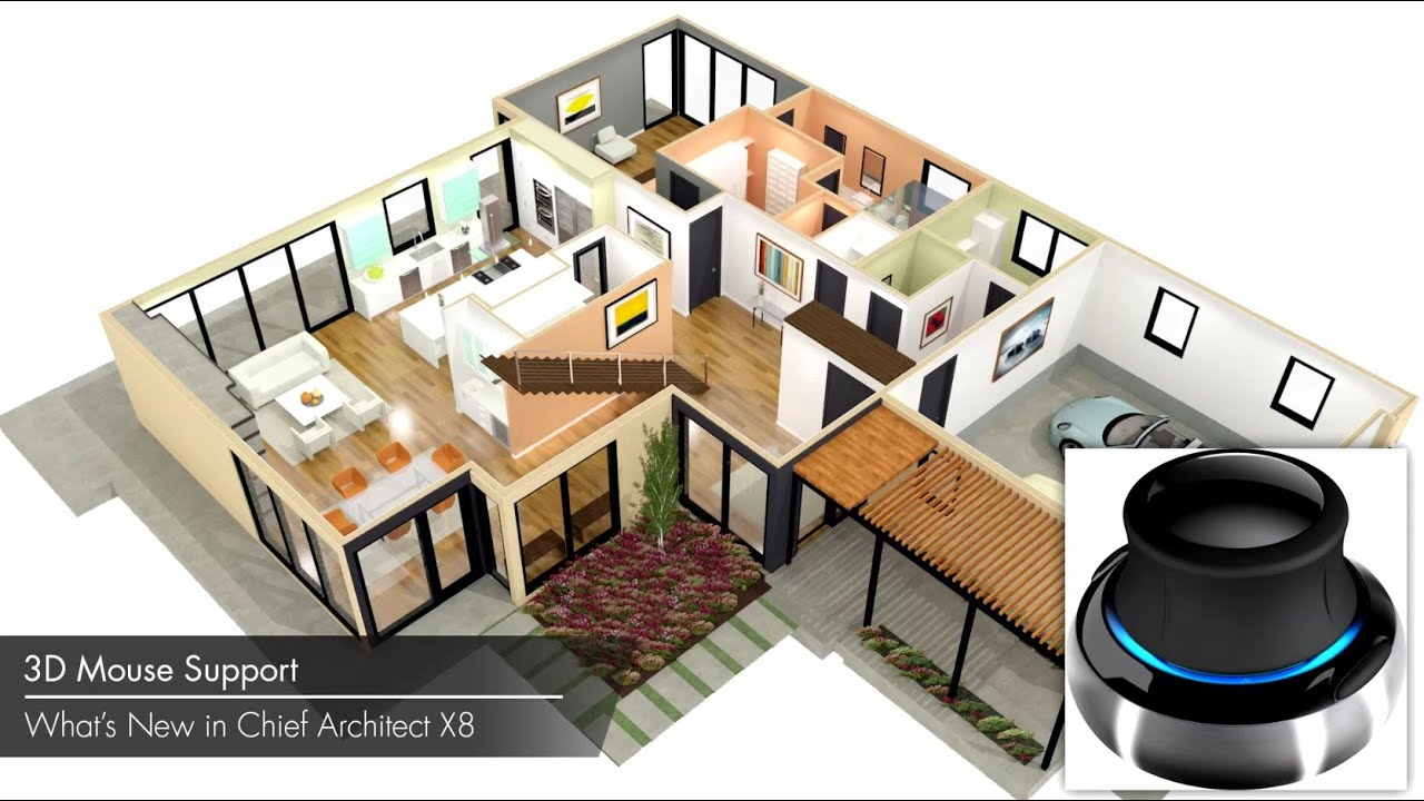 Chief Architect X8 3D Mouse Support YouTube