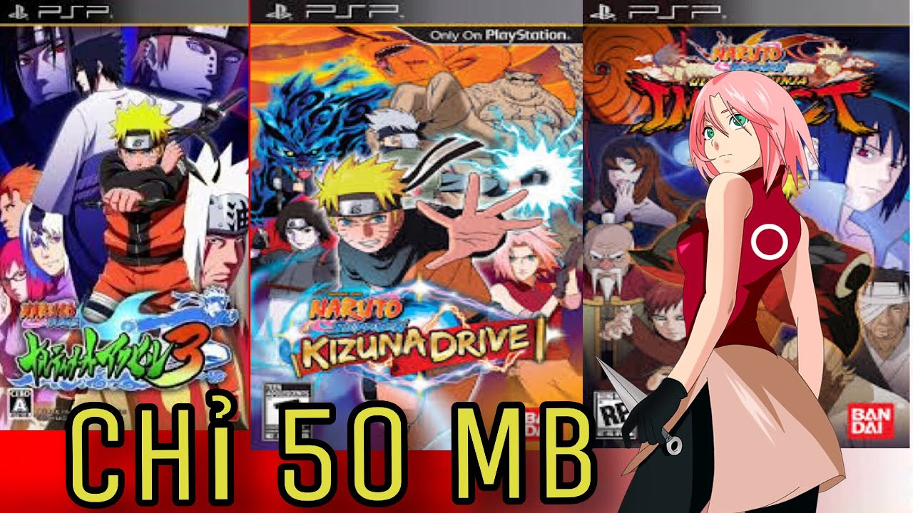 3 Game Naruto PSP Dung Lượng Cực Nhẹ PPSSPP Android