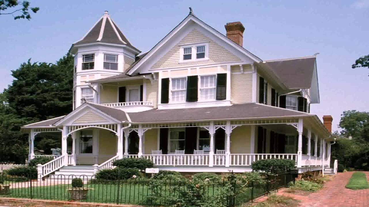 Queen anne style house characteristics youtube for Queen anne style