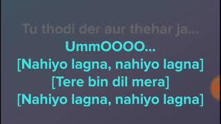 tu thodi der aur thehar ja background music track    tu thodi der karaoke without voice