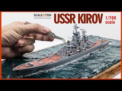 USSR Kirov Battlecruiser Scale Model Ship 1/700