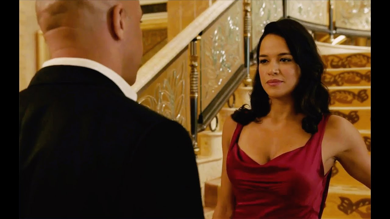 Furious 7 red dress michelle