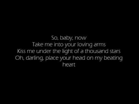 ED SHEERAN - THINKING OUT LOUD LYRICS