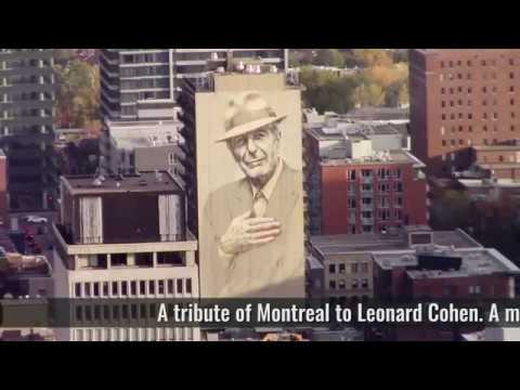 Leonard Cohen Mural In Downtown Montreal Crescent Street Youtube