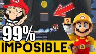 Cuando un Japones Pillo Crea un 99% 😡- NIVELES 99% IMPOSIBLES #59 | Super Mario Maker thumbnail