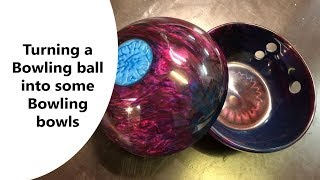 Turning a Bowling ball into some Bowling bowls