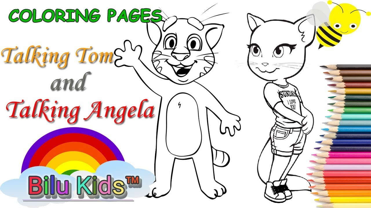 COLORING BOOK, PAGES - Talking Tom and Talking Angela | Bilu Kids ...