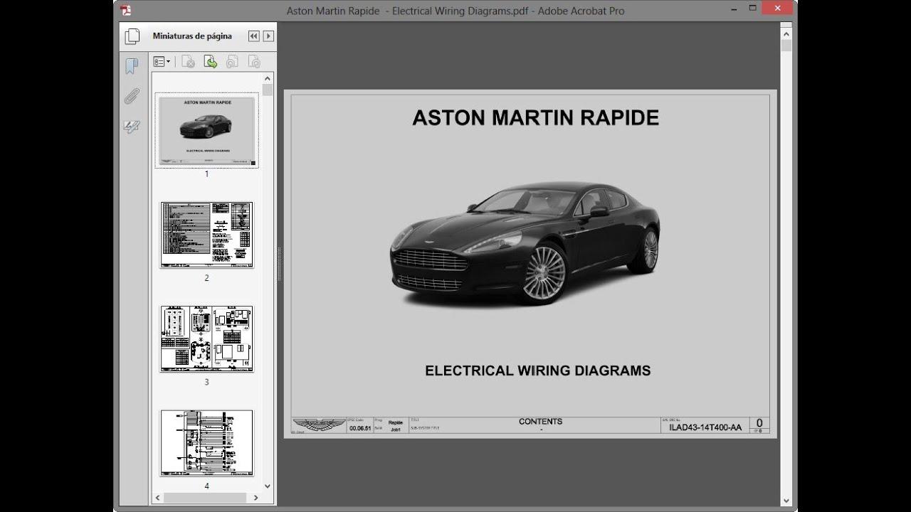 Aston Martin Rapide - Electrical Wiring Diagrams