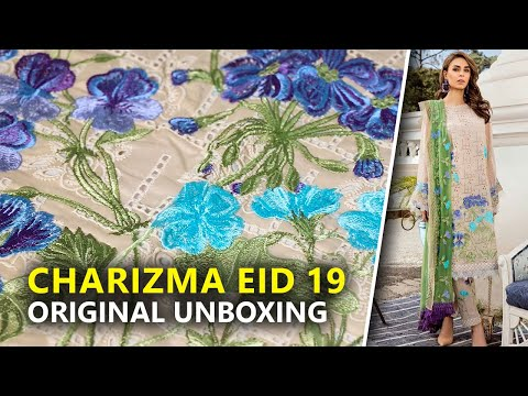 Charizma Lawn 2019   Unboxing Festive ED-31 Sara Clothes   Hina Altaf