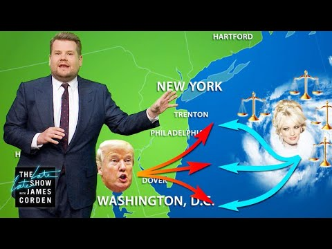 "James Corden vs. Trump's 5-Day Forecast Is Looking ""Stormy""!"