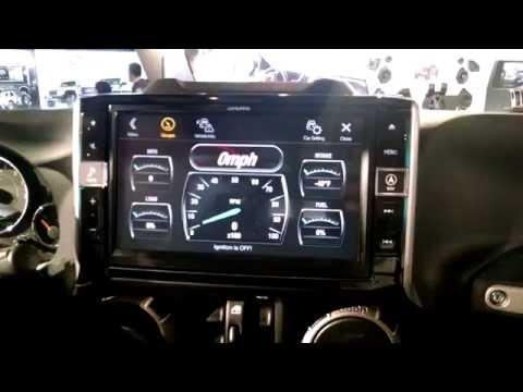 "Alpine 2016 Jeep Wrangler 9"" Restyle infotainment system"