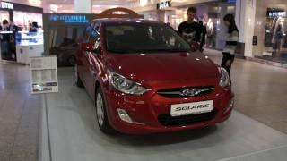 Hyundai Solaris Красный Comfort вид снаружи смотреть