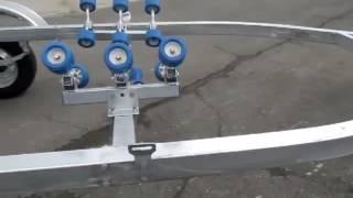 Прицеп трейлер для катера лодки двухосный