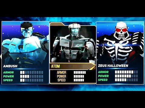 Real Steel ATOM & AMBUSH & ZEUS Halloween | BOSS Noisy Boy - ARCADE | NEW ROBOT Живая Сталь