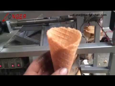 Waffle Cone Making Machine|Rolled Sugar Cone Maker|Ice Cream Cone Rolling Machine