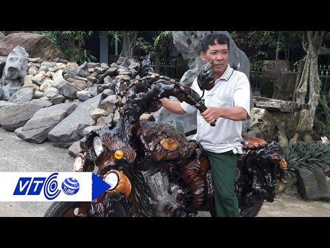 Ngắm xe máy độ bằng gỗ 'độc nhất vô nhị' | VTC