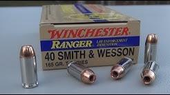 .40 S&W Winchester Ranger T-Series 165 gr Ammo Test
