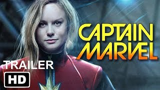 CAPTAIN MARVEL (2019) First Look Trailer - Brie Larson Marvel Movie Concept