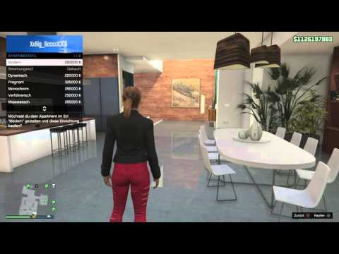 Full download gta 5 online das teuerste haus in gta 5 400000 for Designer apartment gta 5