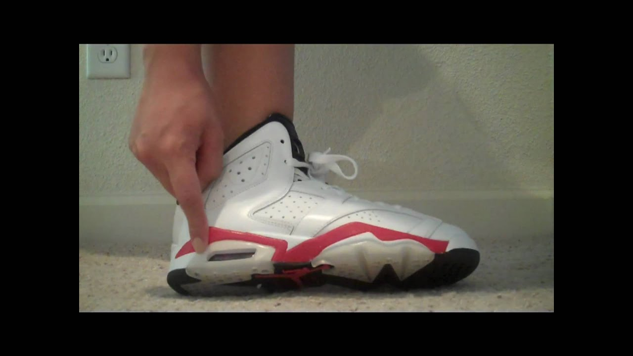 764b45a5eb2 Air Jordan 6 VI Retro (GS) (white   varsity red   black) - YouTube