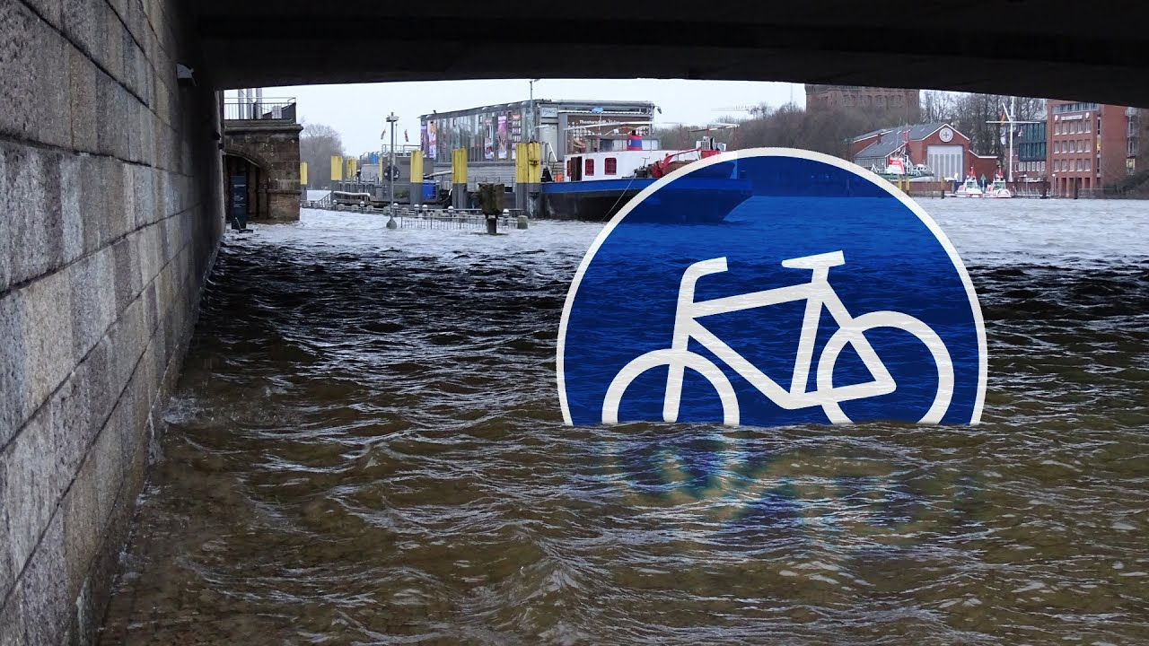 hochwasser in bremen cycling flood inundaci n youtube. Black Bedroom Furniture Sets. Home Design Ideas