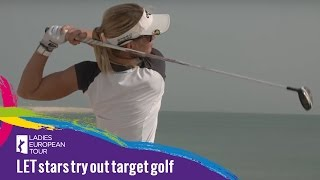 LET stars try out target golf on Al Safliya Island