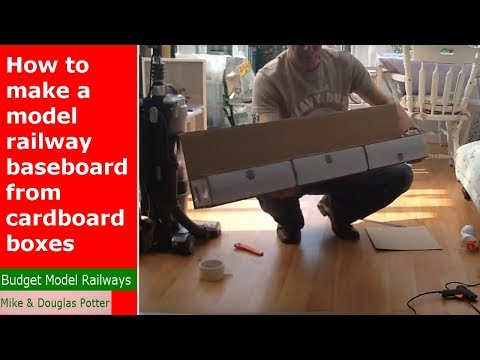 How To Make A Free Model Railway Shunting/switching Layout From Cardboard Boxes