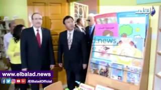 2 مليون و 650 ألف جنيه لتطوير مدرسة افتتحها محافظ بني سويف والسفير الياباني.. فيديو وصور