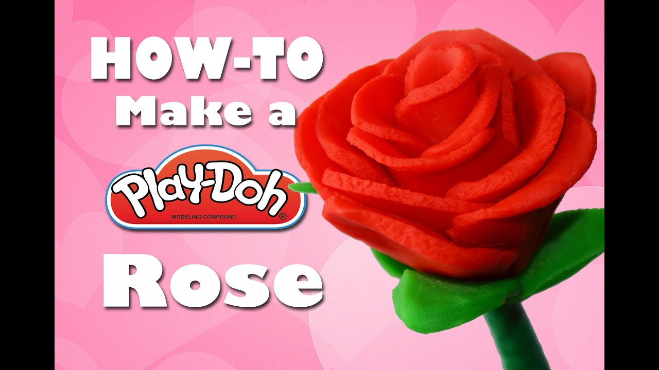 How To Make A Play Doh Rose  E2 9d A4 Handmade Gifts For Valentines Day The Ditzy Channel