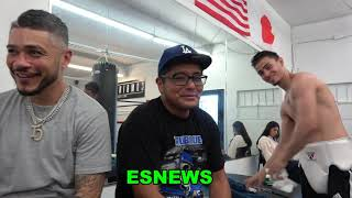 David Benavidez Reaction to To Ruiz Saying He Will End Joshua Career  EsNews Boxing