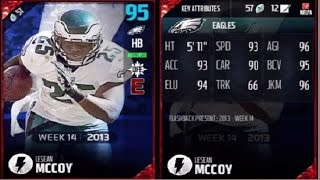 Flashback Lesean McCoy | Player Review | Madden 17 Ultimate Team Gameplay