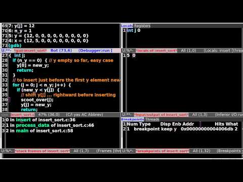 AoD_1: Debugging with GDB in Emacs