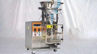 How to operate run peanut granule packing MC FFS for Columbian Cómo operar la máquina de embalaje
