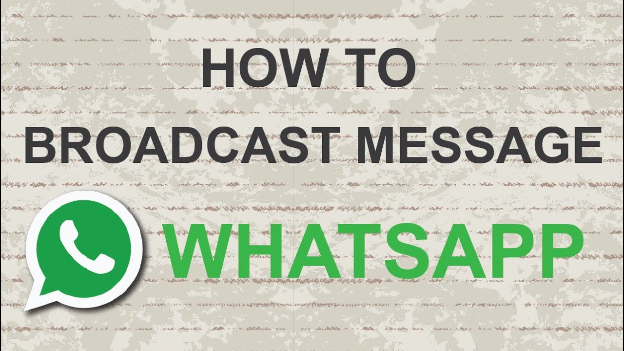 how to know if a message is broadcast on whatsapp