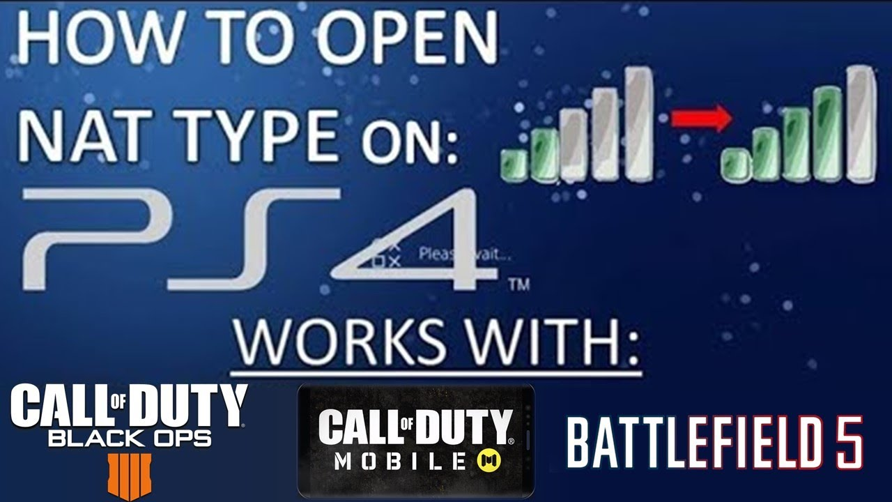 HOW TO OPEN NAT TYPE ON PS4 (works on all routers)