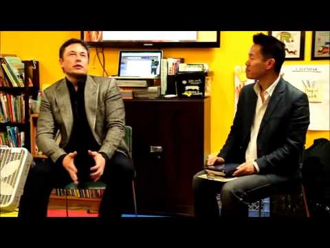 Elon Musk shares his life journey with young entrepreneurs 2014