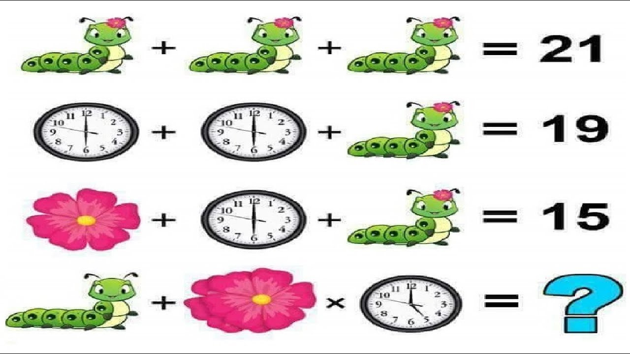 Caterpillar, Clock and Flower Puzzle - Only For Genius