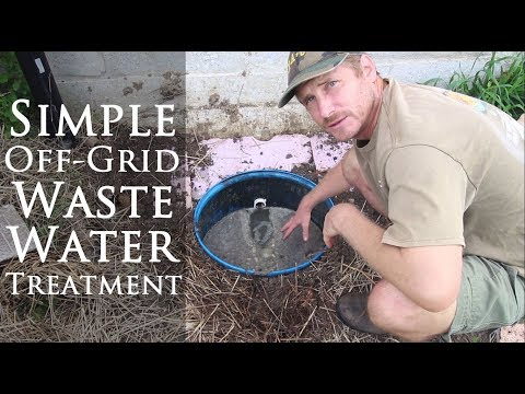 Simple Wastewater Treatment for Off-grid Water System