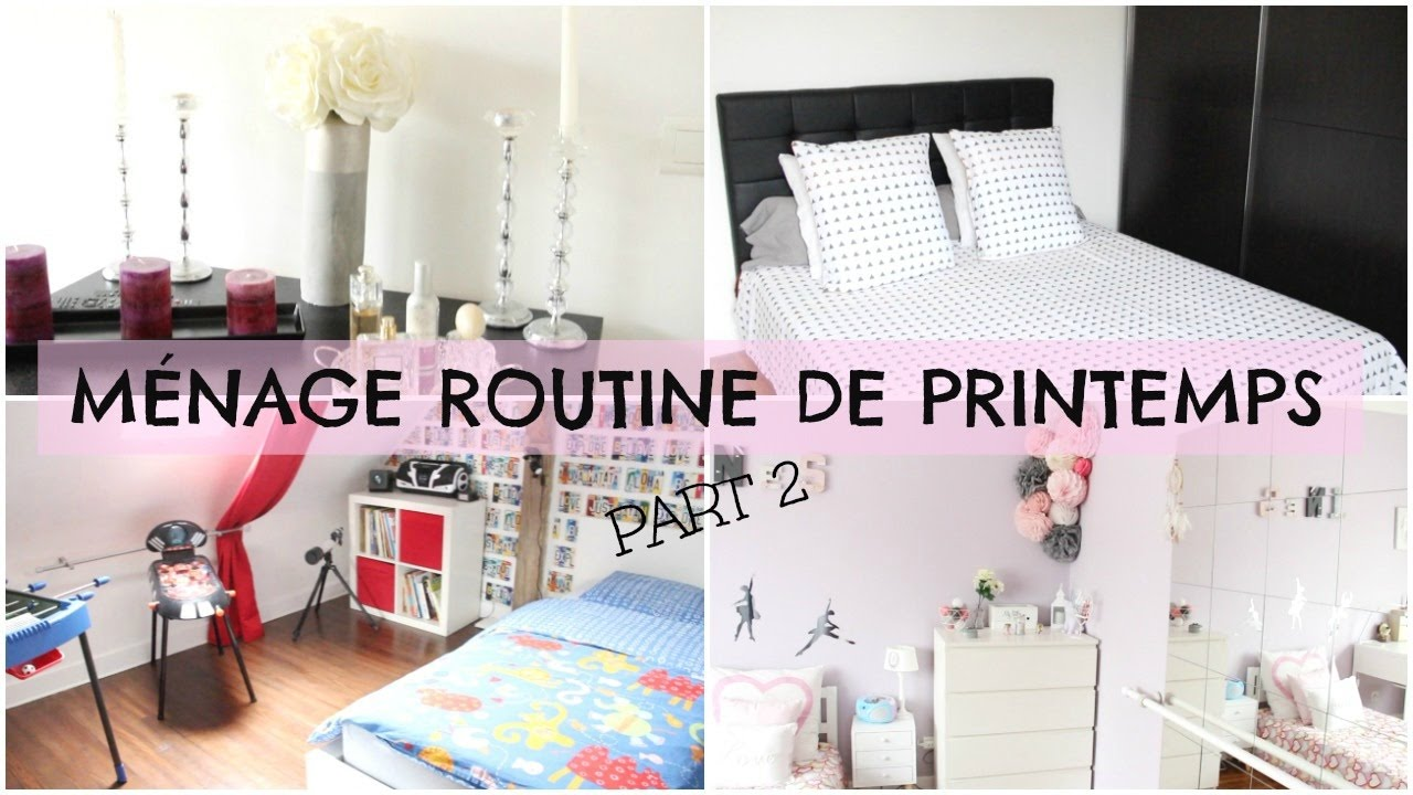 organisation routine m nage de printemps part 2 youtube. Black Bedroom Furniture Sets. Home Design Ideas