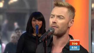 Singing sensation Ronan Keating performs one of his biggest hits 'W...
