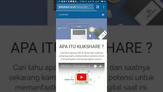 Log-in Klikshare dan edit foto profil