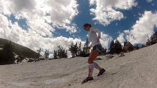 Running on the Continental Divide: Falling in the snow!