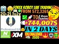 Forex Robot Live EA Makes Account Grow To +744,007$ In 2 Days!!!  Professional EA