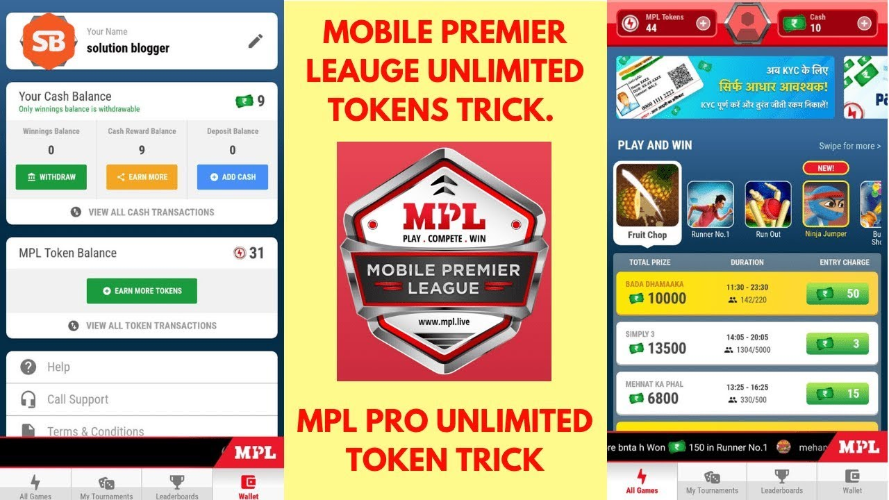 MPL PRO Download   Referral Code   Unlimited Tokens   MOD APK